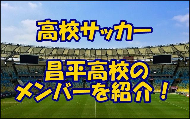 部 メンバー 昌平 高校 サッカー